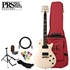 Paul Reed Smith SE 245 Antique White Electric Guitar Kit Includes Tuner, Cable, Strap, Stand, Pick Sampler and PRS Gig Bag