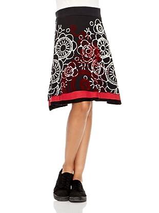 Desigual Falda Vegetallove (Negro Estampado)