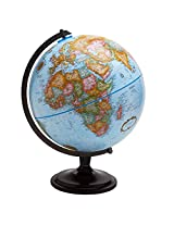 Replogle Globes Pasco Desktop Globe with Blue Oceans and Wood Stand, 12