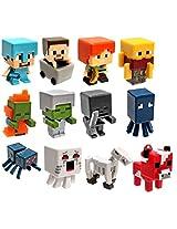 """Minecraft Netherrack Series 3 Set of All 12 1"""" Mini Figures"""