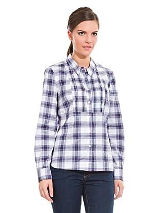 Cortefiel Camisa Preppy Jaretas (Azul Marino)