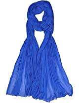 VISION INDIA CLOTHING Women's Cotton Dupatta (VIC048_Inkblue_Free Size)