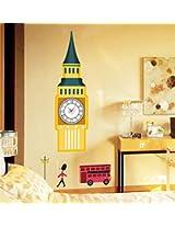 UberLyfe Big Ben Wall Clock cum Wall Sticker
