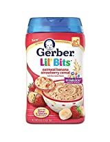 Gerber Lil' Bits Cereal Oatmeal Banana Strawberry - 8 Ounce