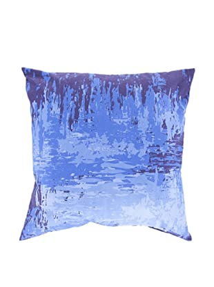 Surya Watercolor-Inspired Throw Pillow (Amparo Blue)