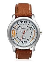 Jainx Explore Analog Silver Dial Men's Watch-JM111
