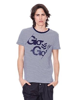 Gio Goi Camiseta Thesplit (azul marino / blanco)