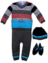Amity Anchor Kids Warm Wear Set (AA14-15484_3-6 Months_Multi-Coloured)