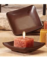 Deco Glow Small Candle Holder Bronze