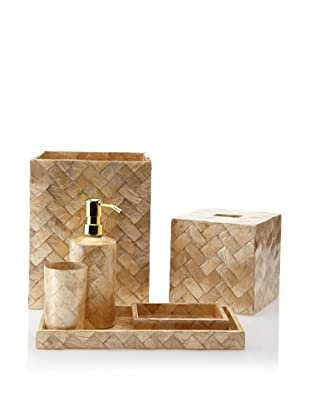 Pearl Dragon Classic Woven Capiz 6-Piece Bathroom Set