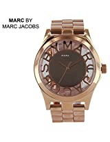 Marc by Marc Jacobs Henry Skeleton Rose Gold-Tone Ladies Watch