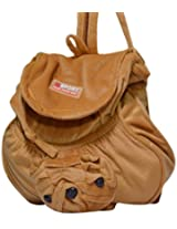 Rahejacraft Bull Dog Plush Backpack, Dark and Light Brown