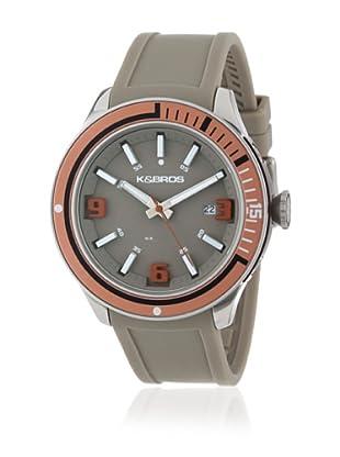 K&BROS Reloj 9487 (Gris / Marrón)