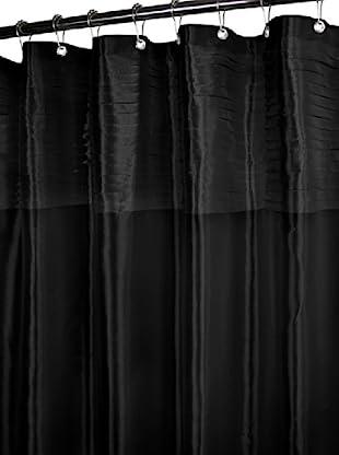 Park B. Smith Tuxedo Pleat Shower Curtain (Black)
