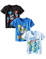 Disney Boys' Toy Story Crew-Neck T-Shirt (Pack of Three)