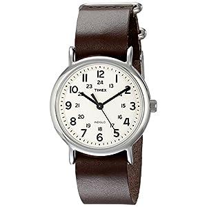 Timex Unisex Weekender Leather Watch