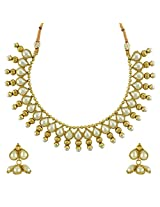 Ethnic Indian Bollywood Jewelry Set Traditional Fashion Necklace SetABNE0336WH