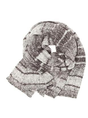 Springfield Bufanda Irregular Yarn Kitted marrón oscuro