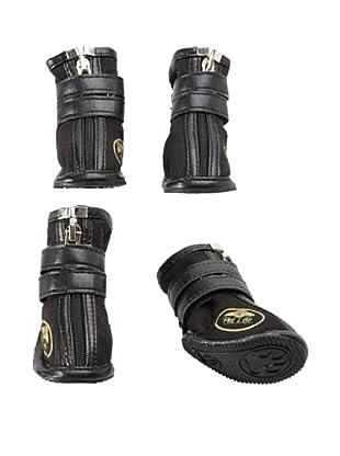 Pet Life Ruff Suede Dog Shoes (Black)