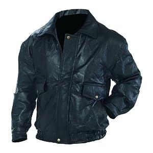 Napoline Leather Bomber Jacket - Black