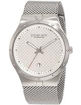 Johan Eric Men's JE3001-04-001B Skive Silver Mesh Stainless Steel Date Watch