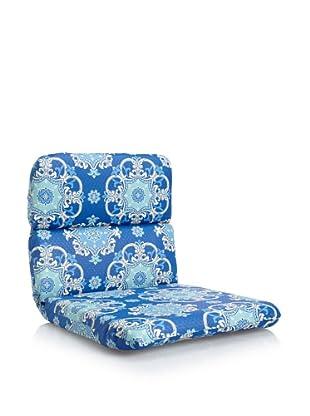 Waverly Sun-n-Shade Garden Crest Rounded Chair Cushion (Marine)