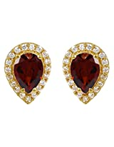 Exxotic Fashion 24k Gold Plated Silver Stud Earring For Girls & Women