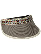San Diego Hat Company Women's Adjustable Visor with Jacquard Band