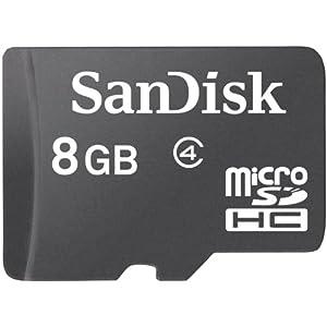 Sandisk microSDHC 8GB Class 4 Memory Card