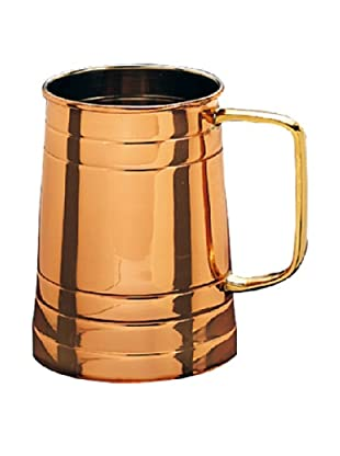 Old Dutch International 1-Pint Solid Copper Tankard with Brass Handle