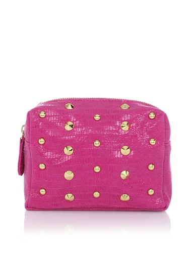 Be & D Women's Heather Studded Cosmetic Case (Fuchsia)
