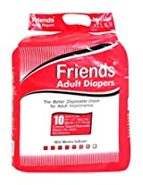 Friends Adult Diapers Medium 28 Inch To 44 Inch 10 PCs