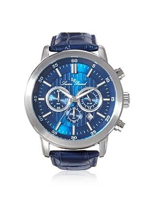 Lucien Piccard Men's 12011-03 Monte Viso Blue/Silver Leather Watch