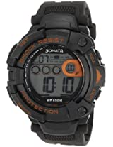 Sonata Ocean Series II Digital Grey Dial Men's Watch - 77010PP04J