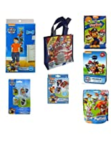 Paw Patrol Gift Set Jumbo Playing Cards,24 Pc Puzzle Tin, Play Pack, Dog Tags, Growth Chart, 24pc Puzzle, Mini Reusable Bag