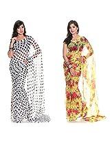 Aaditri Fashions Set Of Two Chiffon Sarees