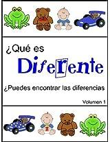 ¿Qué es diferente (¿Puedes encontrar las diferencias nº 1) (Spanish Edition)