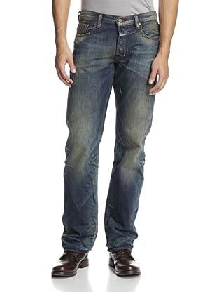 PRPS Men's Barracuda Straight Leg Heritage Wash Jean (Indigo)