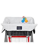 Shopping Cart Cover for Baby & Toddler (Waterproof + Harness in Unisex Grey)
