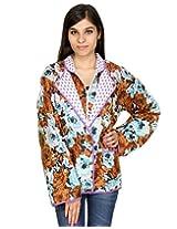 Rajrang Cotton Floral Brown Jacket