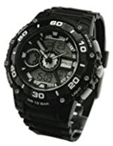 Q&Q Analog-Digital Watch - For Men (Black)