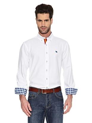 Toro Camisa Lisa con Bandera (Blanco)