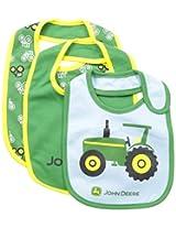 John Deere Baby-Boys Newborn Tractor Bib Set Green