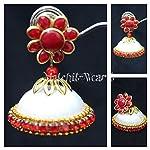 Handmade silkthread earrings