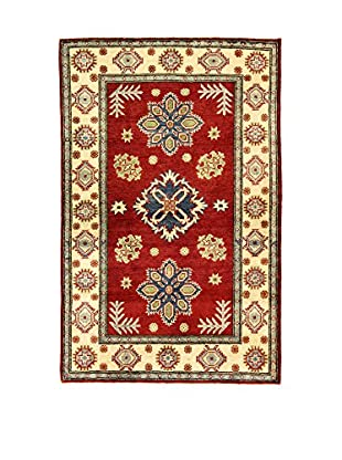 L'Eden del Tappeto Teppich Uzebekistan Super rot/beige 155t x t99 cm