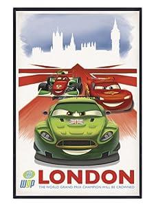 "Cars 2: London, 24""x 16"""