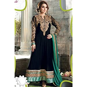 Preity Zinta Jari work Anarkali Suit