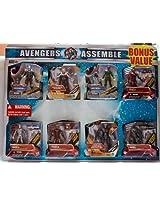 Avengers Assemble Bonus Value 8 Pack Includes: Crossbones Thor Red Skull Mark VI Mark II Mark III Marve's Destrouer Mark I