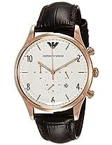Emporio Armani Beta Analog White Dial Men's Watch - AR1916