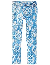 7 For All Mankind Little Girls' The Skinny Jeans, Ethnic Geo Blue, 6X